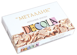 Набор акриловых красок Decola Металлик в тубах, 8 цв. х 18 мл