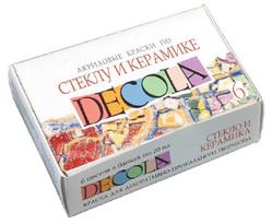 Набор акриловых красок по стеклу и керамике Decola, 6 цв.